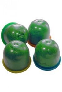 Бахилы в капсулах 28 мм (стандартной плотности, гладкие, зеленые)