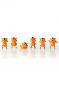 3304 c Маленькие тигрята наконечники на карандаши в капсуле Ø28мм (250 шт./уп.)