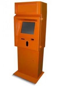 Корпус уличного терминала под монетоприемник